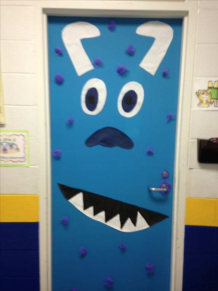 The outside of my classroom door.