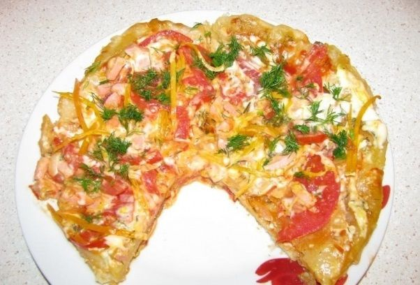 Пицца в мультиварке - фото шаг 6