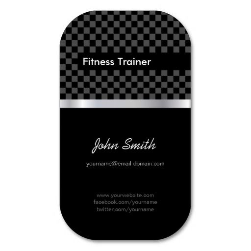 263 best fitness business cards images on pinterest card patterns fitness trainer elegant black silver squares business card accmission Gallery