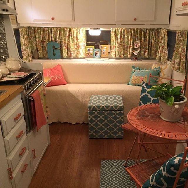 Warm inviting camper space