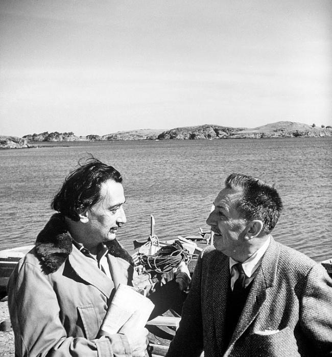 Сальвадор Дали и Уолт Дисней, 1957 г.