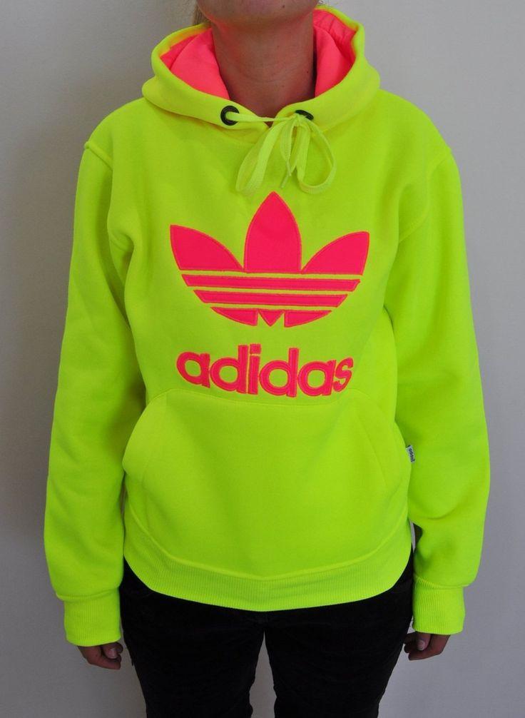 Neon Yellow Adidas Hoodie ☻                     ⇜•ṄεΦЙ❉€яᗛƶΣ•⇝