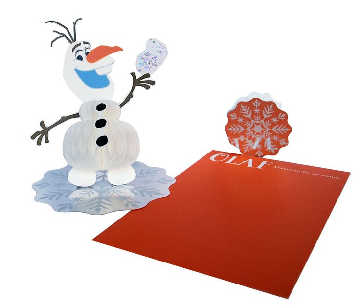 Disney Frozen/Frozen Fever Olaf stand up/pop up birthday card - honeycomb-style
