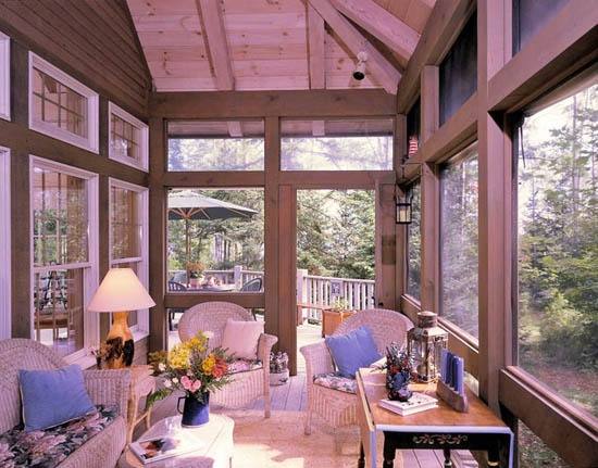 17 best images about our back porch on pinterest for Timber frame screened porch