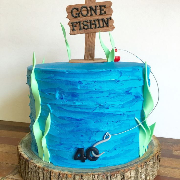 gone fishing cake 40th birthday cake