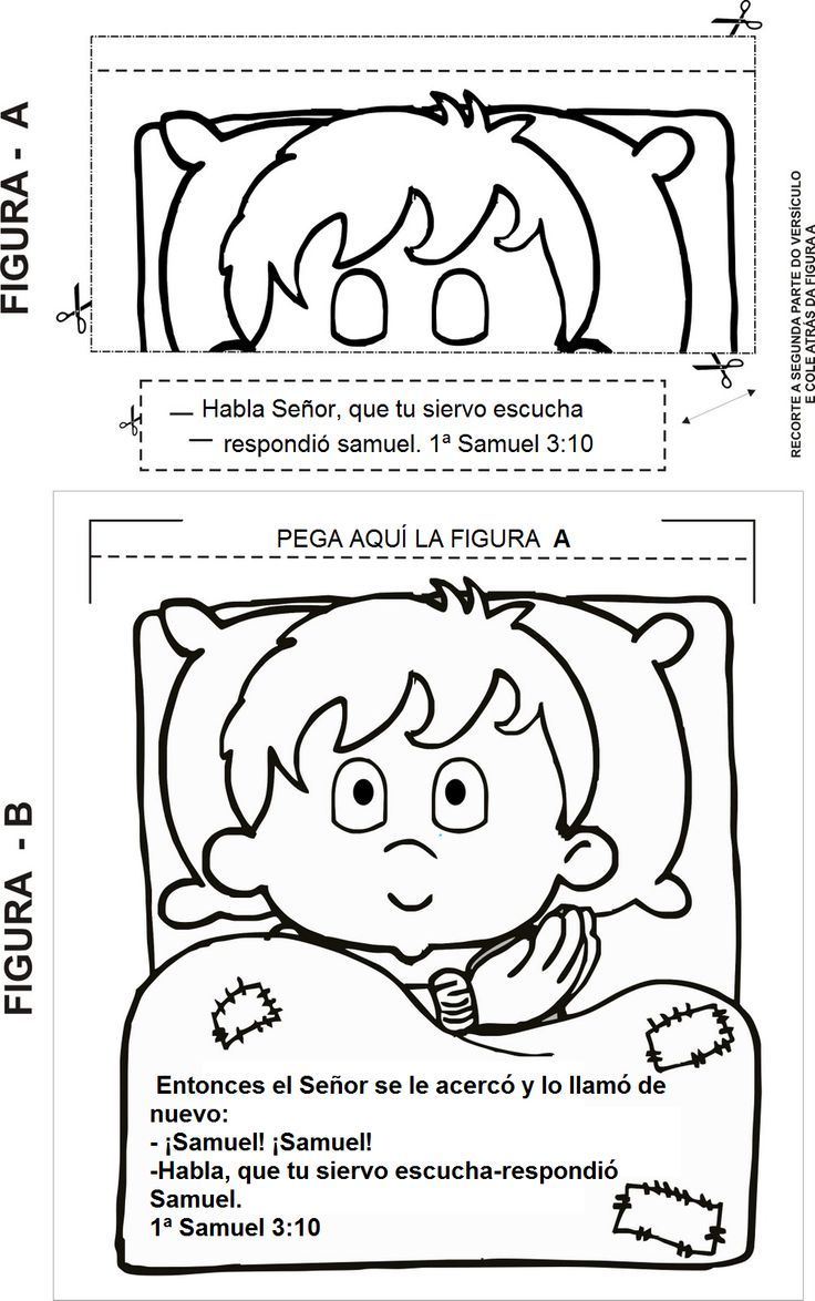 Coloring sheet hannah and samuel - Bible Coloring Pages
