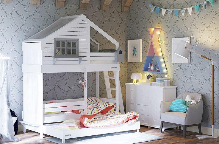 Уютное гнездышко | Кровати-чердаки | Кровати-домики | Двухъярусные кровати | Детские кровати | Фабрика детской мебели BukWood | Буквуд
