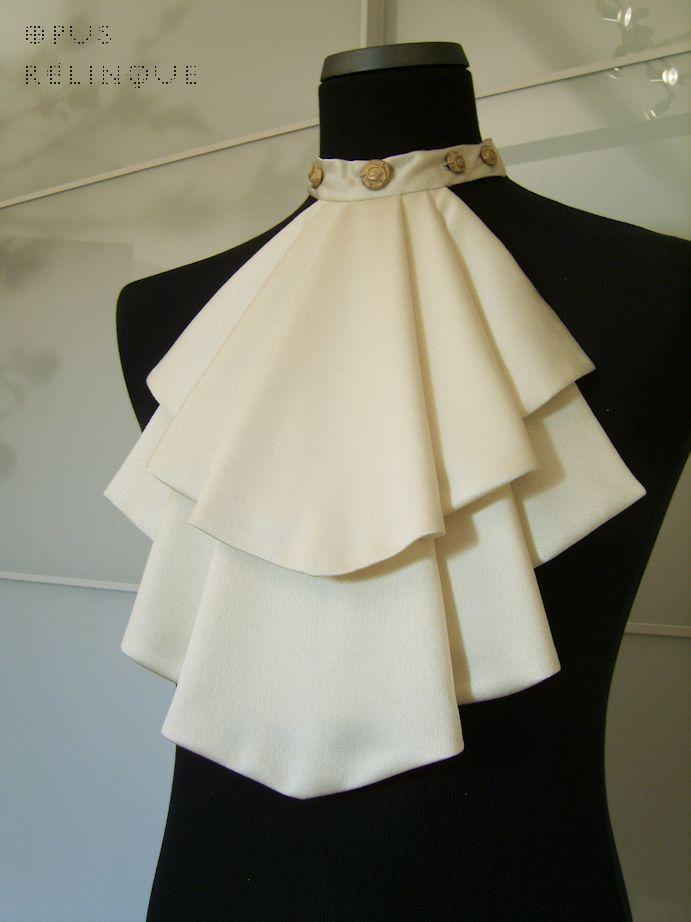 White Shirt Jabot - inspiration only