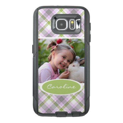 Custom Cute Trending Popular Tartan Plaid Pattern OtterBox Samsung Galaxy S6 Case - create your own gifts personalize cyo custom