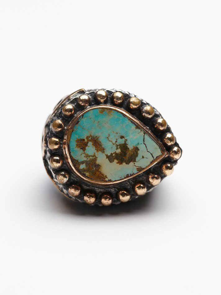 Bora Turquoise Teardrop Ring at Free People Clothing Boutique