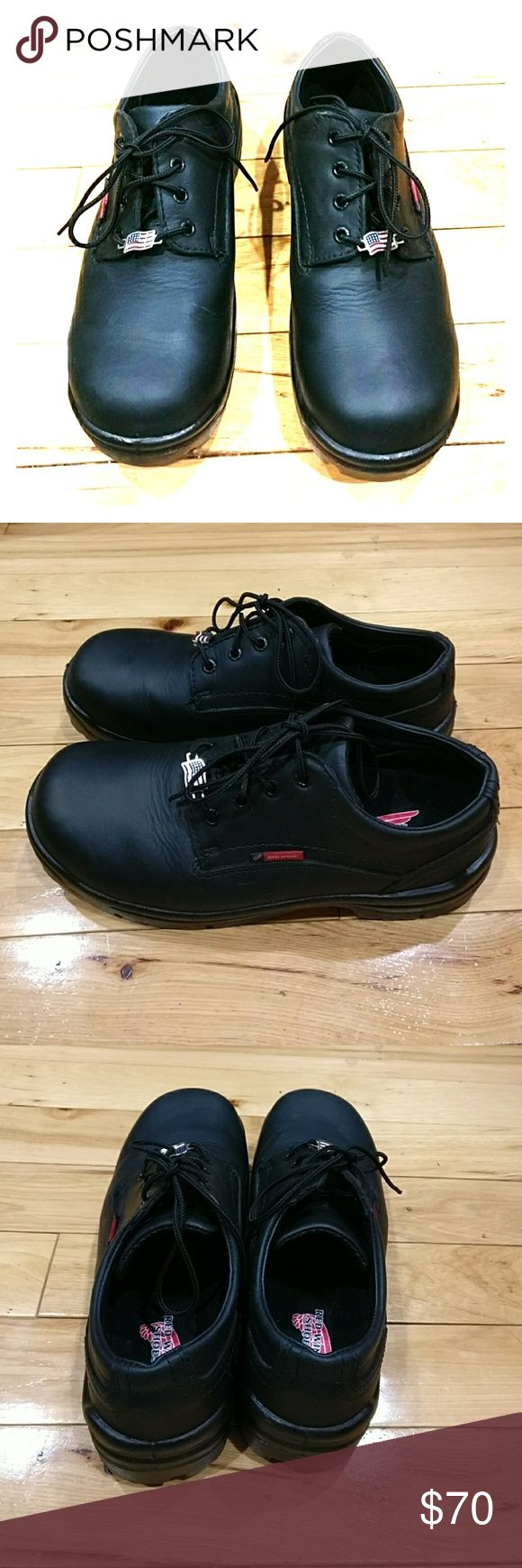 Red Wing men's shoes black 9.5 D Red Wing black men's shoes size 9.5 d Hair Art near new condition. I'm selling them at a great price so get them today yeah! Red Wing Shoes Shoes Oxfords & Derbys
