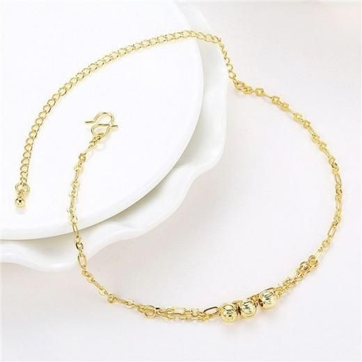 Women Barefoot Sandal Beach Foot Jewelry Anklet Silver Bead Chain Ankle Bracelet Plated China