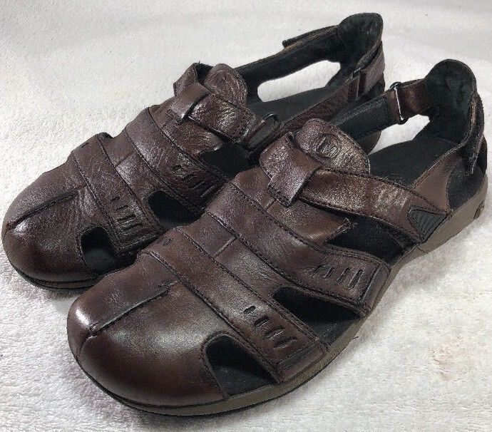 Merrell J33149 Galien Chili Fisherman Sandals Shoes Brown leather Men's Size 14