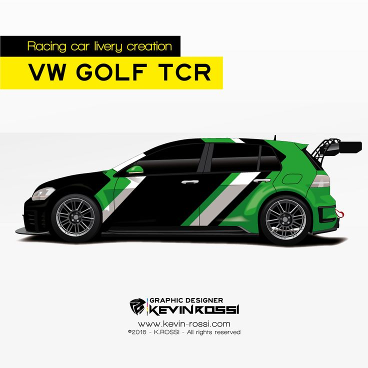 Livery creation on volkswagen golf tcr available