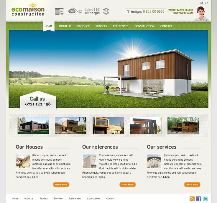 web design site prezentare case eco din lemn