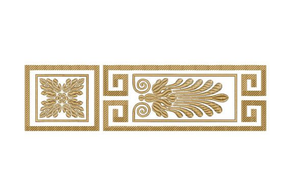 Border, ornament, pattern - Machine Embroidery Design - Instant Download - Three…