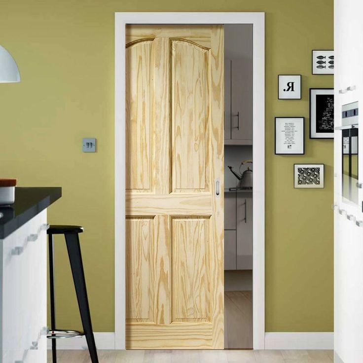 Single Pocket Rio 4 Panel Clear Pine Door. #pinedoor #pocketdoor #slidingdoor