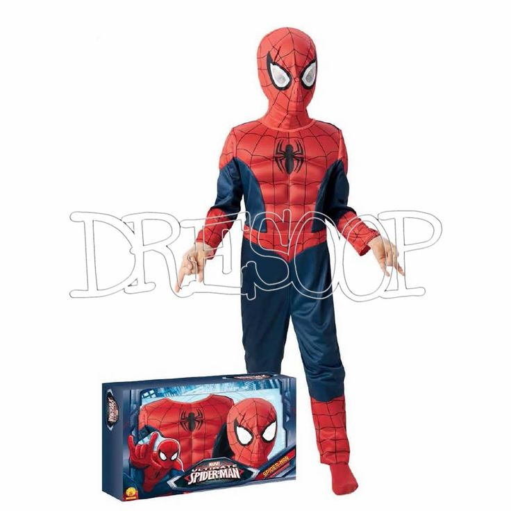 Disfraz Spiderman Ultimate musculoso con caja para niño - Dresoop.es
