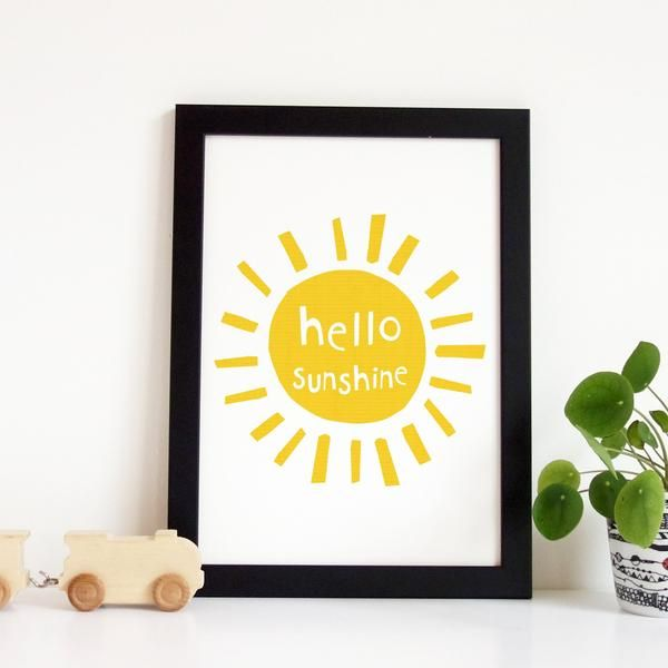 Hello Sunshine Wall Art