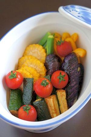 白だしを使って♪夏野菜の揚げ浸し
