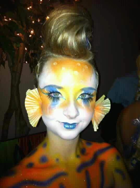 Fish Halloween makeup by:Heather Parish hpmacgirl@gmail.com or https://www.facebook.com/heatherparish.makeup