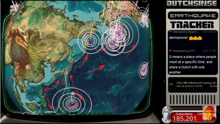 1/10/17 4pm earthquake update dutchsinse - YouTube