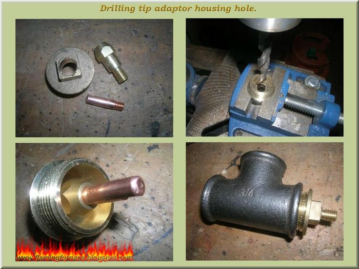 Foundry gas burner ~ Metal casting projects