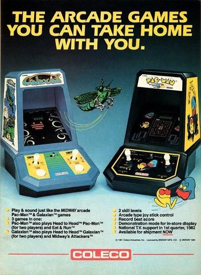 Coleco Galaxian and Pac-Man portable games from 1982