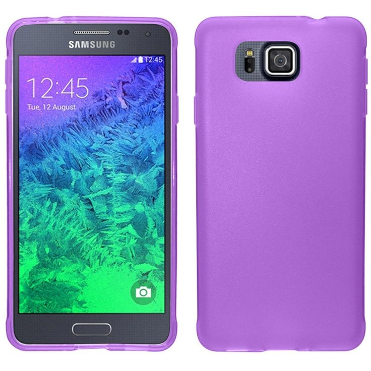 Zizo Slim-Fit TPU Case for Samsung Galaxy Alpha (G850F) - Purple