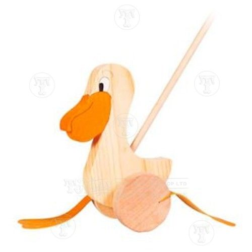 Pelican Push Along: Only �14.99 from Toyday Toyshop. A wooden pelican push along toy. Toyday traditional & classic toys is an old fashioned toy shop on the high street and online. Merchants of traditional and classic toys, Toyday's focus is on good old fashioned customer service & traditional value.