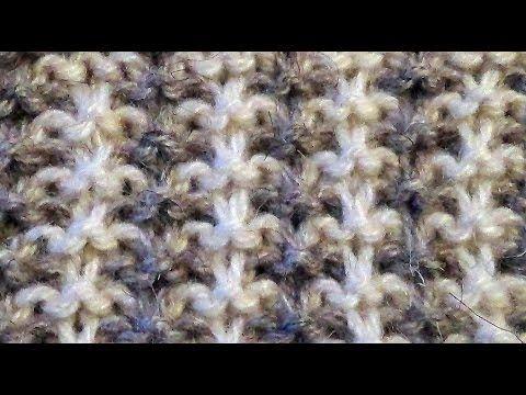 """Вязание спицами. Узор """"Двухцветные лапки"""". Knitting. Pattern """"Bicolor foot"""". - YouTube"""