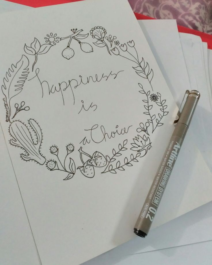 Happiness is a Choice #floraldesign #artquotes #floral #artwork