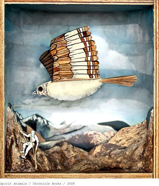 "Diorama from ""Spirit Animals"" series by Grady McFerrin  www.gmillustration.com"