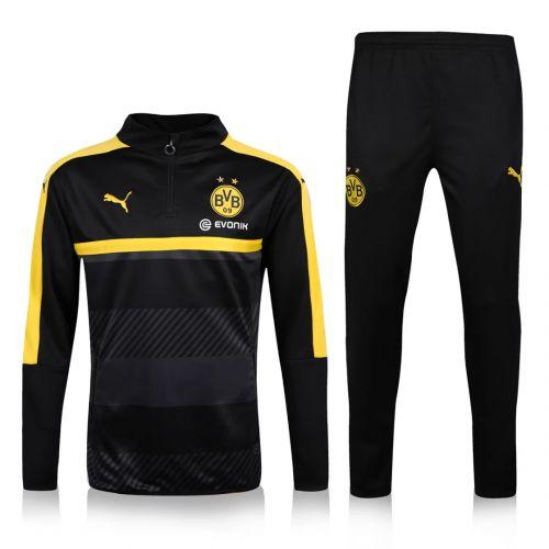 Borussia Dortmund 16/17 Black Training SUIT [Jacket and Pants] Reus Aubameyang Gotze soccer uniforms