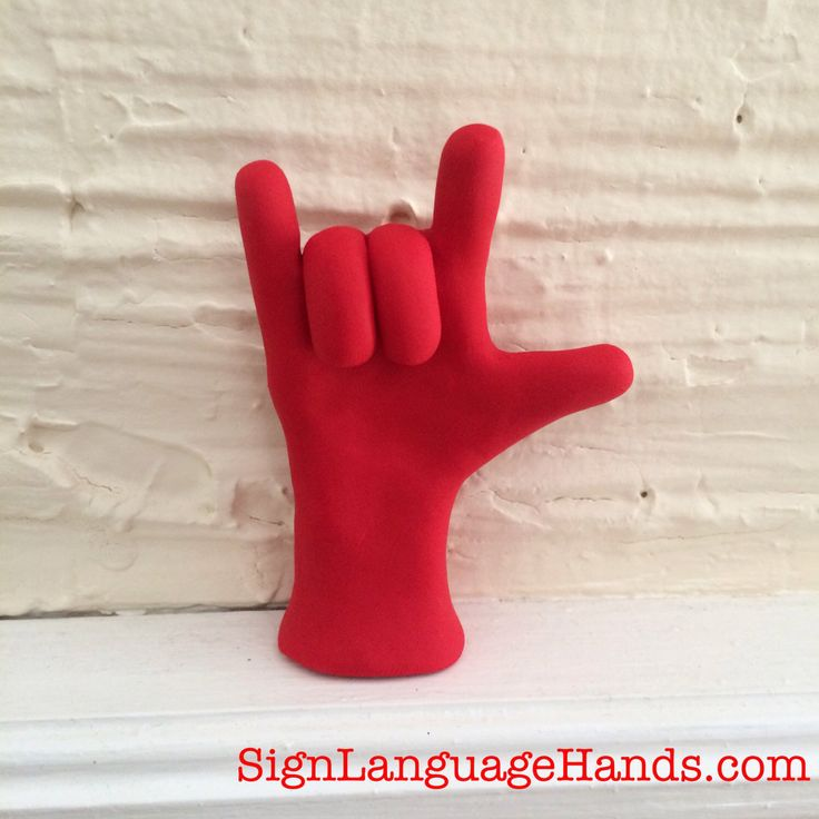 I Love You ASL Hand Sculpture - Handmade American Sign Language Statue for I Love You - Customizable Gift - Made to Order - You Choose Color by SignLanguageHands on Etsy https://www.etsy.com/listing/71723681/i-love-you-asl-hand-sculpture-handmade