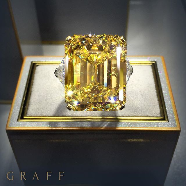 Rarefied Beauty - Graff is renowned for rare coloured stones, particularly yellow diamonds. For every 10,000 colourless diamonds, only one diamond showing natural colour will be found. Beautifully vibrant a yellow diamond is emblematic of happiness, joy and prosperity. #GraffDiamonds #YellowDiamond