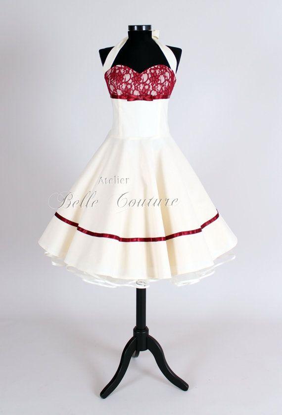 50er Jahre Petticoat Brautkleid Marie II von atelierbellecouture