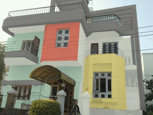 Consumer Inspired By Asian Paints Apex Ultima Weather Report Wanted This Look To His House With Bright Shades And It Looks Great Me