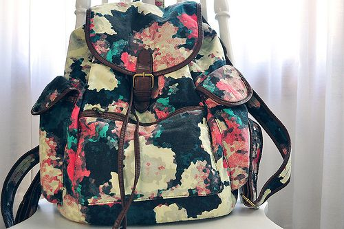 floral backpack: Backpacks, Fashion, Style, Clothes, Accessories, Purses, Floral Backpack, Bags