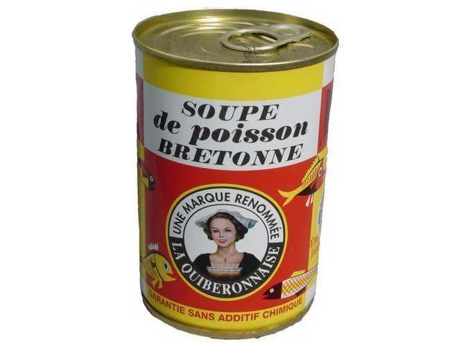 Conserverie La Quiberonnaise - Soupe de poissons bretonne - sans additif chimique - poisson 40%