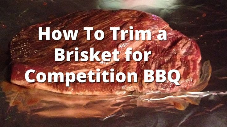 Trimming a Brisket for Competition BBQ - How To Trim a Beef Brisket He trimmed about 4 lbs. off.  I am glad I don't do competitions.