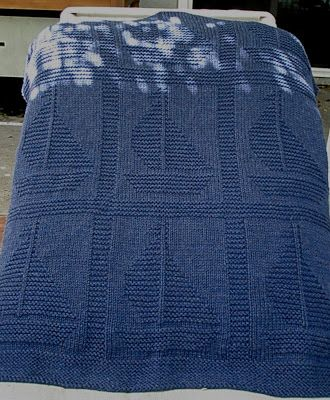 I've knit this blanket twice. It's so cute and knits up in a weekend :) Come Sail Away Pattern