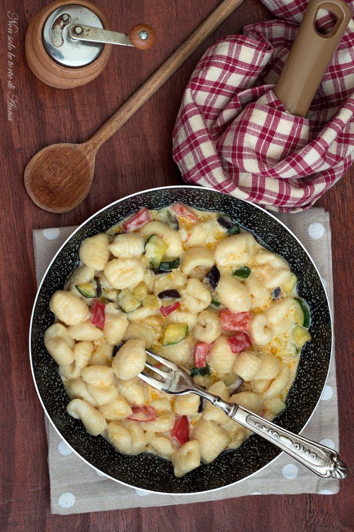 Gnocchi di ricotta con verdure, facile e gustoso primo piatto