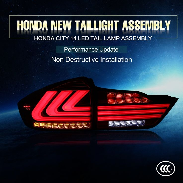 268.20$  Buy here - http://ali088.worldwells.pw/go.php?t=32768448414 - High quality led modified tail light for 2012~2014 year honda city rear lamp 9~32v DC red color