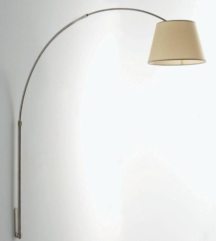 BOING LAMPADA DA PARETE AD ARCO IN METALLO NICHEL SPAZZOLATOPiantane e Lampade moderne da terra
