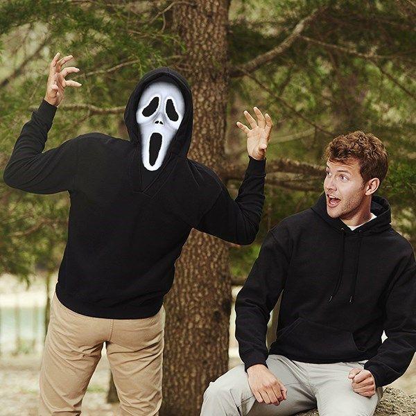 Çığlık filminden kopup gelmiş en harika sweatler artık BuldumBuldum.com'da. Kapşonunda yer alan baskısı ile iki ayrı yüze sahip olabileceğiniz İki Yüzlü Sweatshirtler gri melanj ve siyah renkleri ile sizlerle.