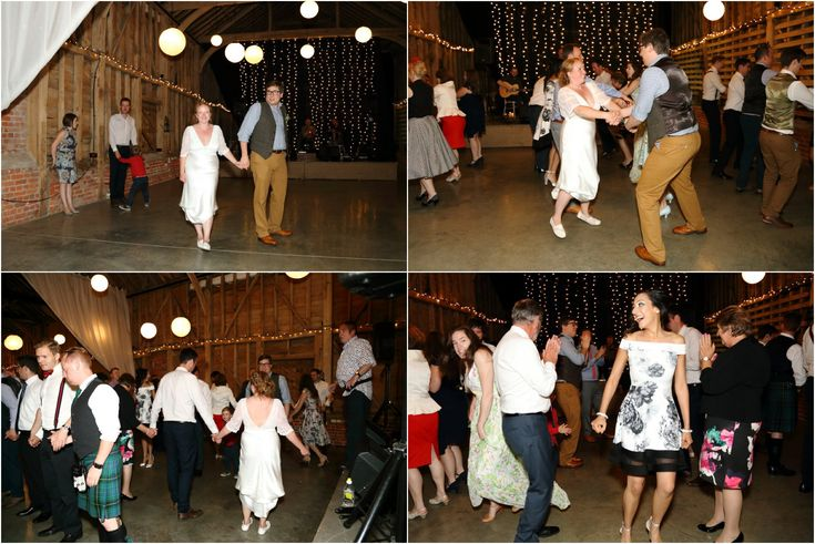Ceilidh band at awesome rustic wedding Childerley Cambridge,