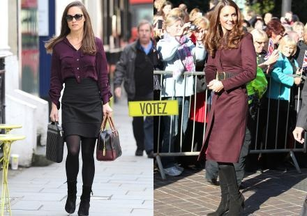 Sondage : qui, de Pippa ou Kate Middleton, porte le mieux le bordeaux ?
