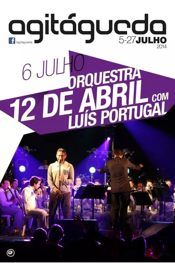 Hoje vamos ter mais um concerto incrível: Orquestra 12 de Abril c/ Luís Portugal  quem vai marcar presença no @agitagueda ?  #agitagueda #agitagueda2014 #agueda #jasofaltastu #music #concerts #umbrellas #streetart