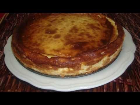 Tarta de queso al horno estilo La Viña - Monsieur Cuisine plus - La doctora cocina - YouTube
